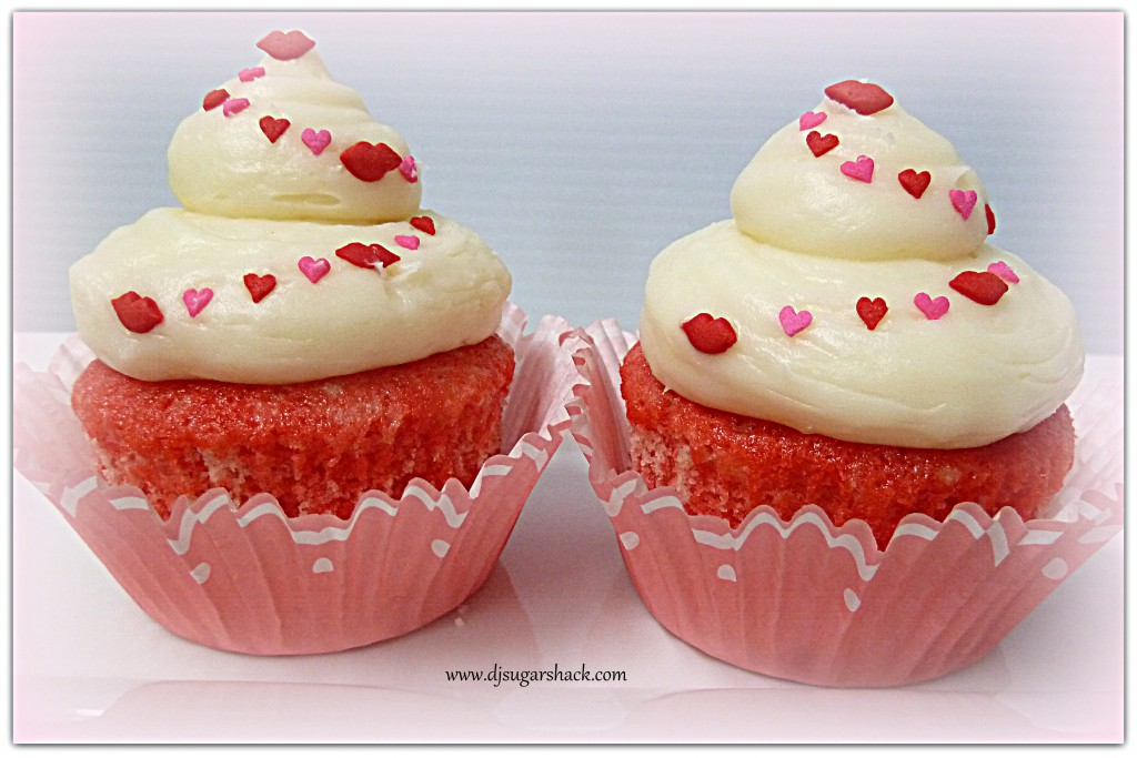 Cherry Vanilla & Cream Cheese Cupcakes for Two