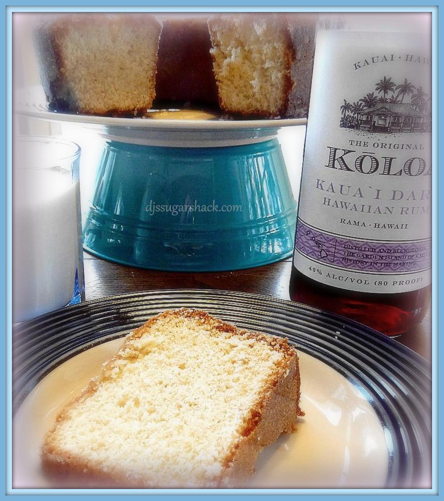 Eggnog Pound Cake With Crystal Rum Glaze Recipe — Dishmaps