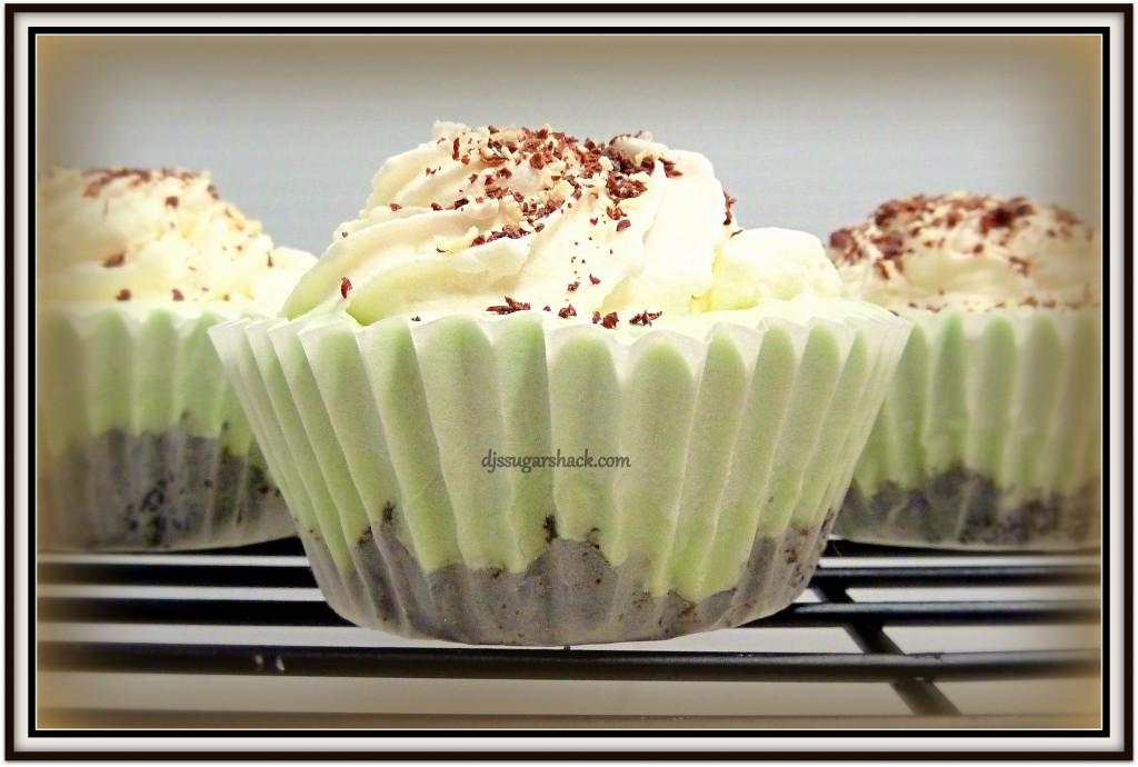 Grasshopper Pie Cupcakes -
