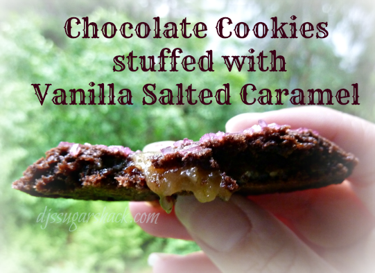 Chocolate Cookies Stuffed with Vanilla Salted Caramel