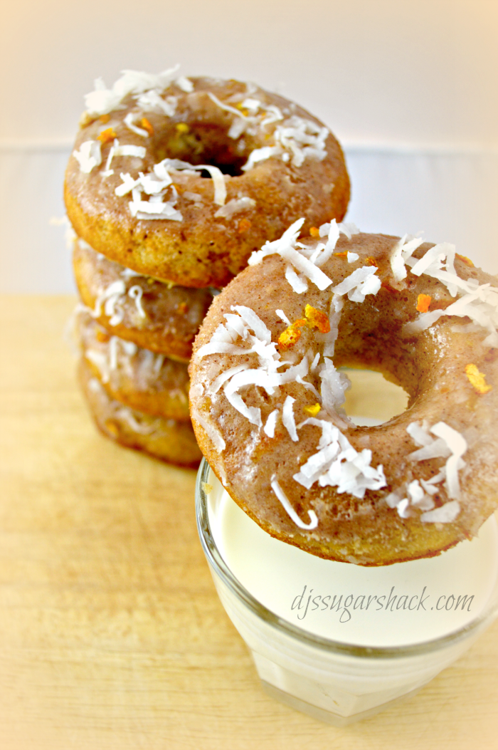 Banana Coconut & Orange Baked Donuts